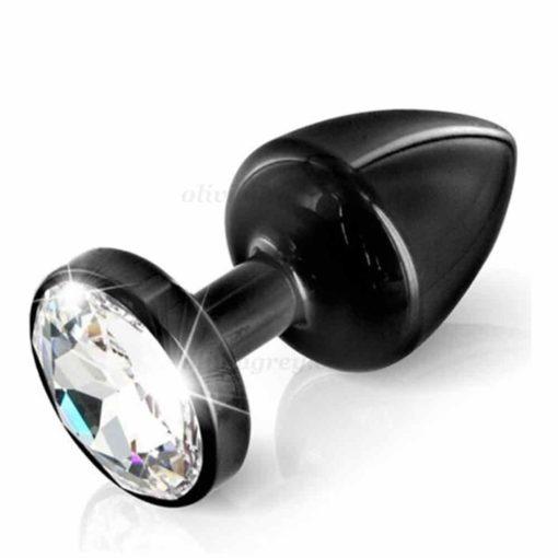 Anni Round Black T1 Butt Plug | Diogol