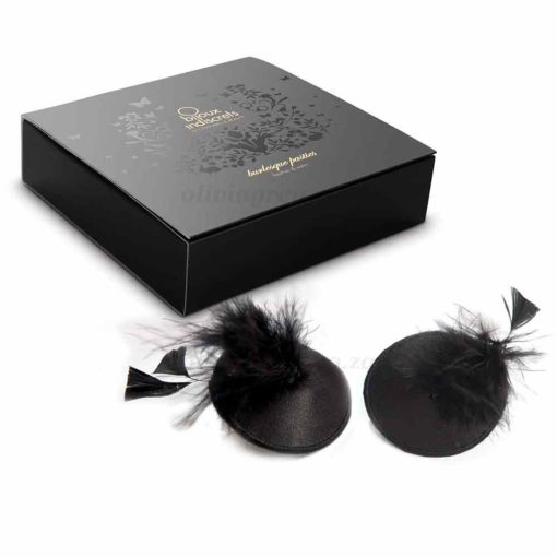 Burlesque Feather Pasties Box | Bijoux