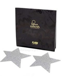 Flash Star Nipple Pasties Silver Packaging | Bijoux