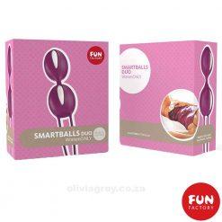 Smart Balls Duo Fun Factory Grape Box