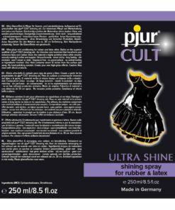 Cult Ultra Shinning Spray 250ml Label | Pjur