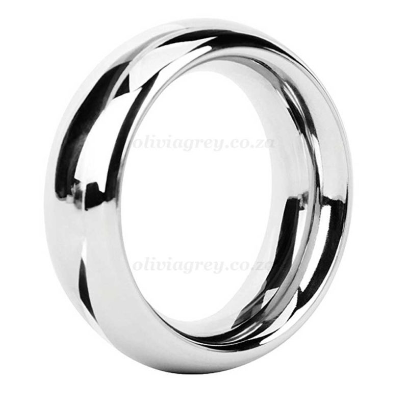Metal Rounded Steel 38mm Cock Ring | Malesation