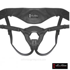 Patent Leather Strap On Harness   Lux Fetish
