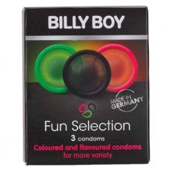 Fun Selection Coloured & Flavoured Condoms 3 Pack | Billy Boy