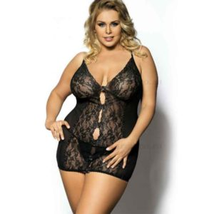 Ymare Black Chemise and G-string