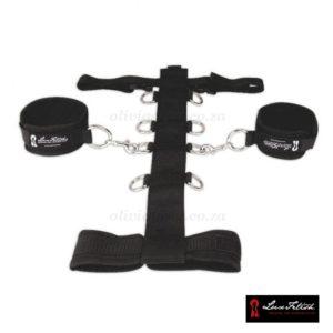 Adjustable Neck & Wrist Set Close Up | Lux Fetish
