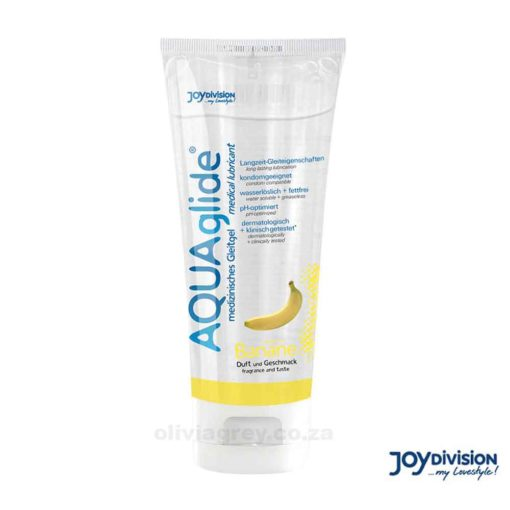 Aquaglide Water Based Flavoured Lubricant Banana
