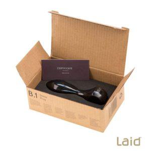 B1 Black Granite Stone Anal Plug Open Box | Laid
