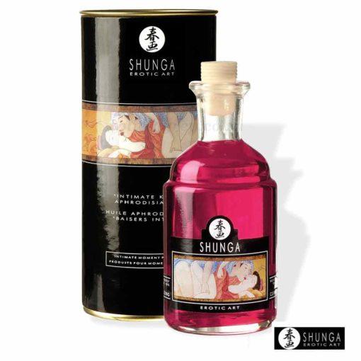 Intimate Kisses Massage Oil Strawberry | Shunga