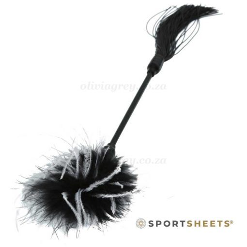 S&M Whip & Tickle Black | Sportsheets