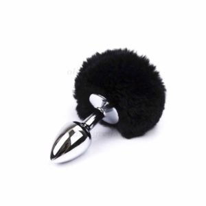 Bunny Tail Butt Plug Black