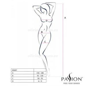 Dominica Bodystocking Size | Passion Lingerie