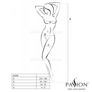 Erica Bodystocking Size | Passion Lingerie.