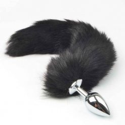 Black Fury Fox Tail Butt Plug