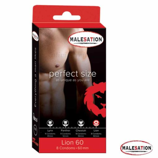 Lion (XL) Condoms   Malesation