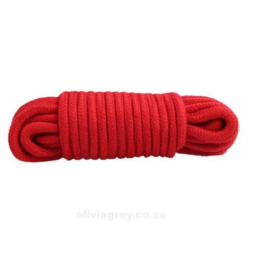 Cotton Bondage Rope Red