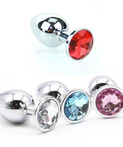 Jewelled Beginners Metal Butt Plug Colours | Just Naughty