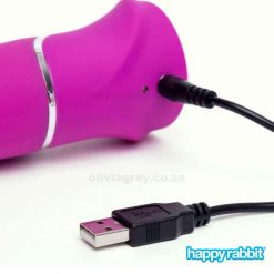 Beaded G-Spot Rechargeable Rabbit Vibrator Charger| Happy Rabbit