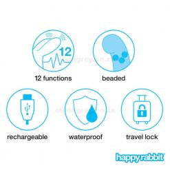 Beaded G-Spot Rechargeable Rabbit Vibrator Functions | Happy Rabbit