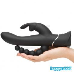 Triple Curve Rechargeable Rabbit Vibrator | Happy Rabbit In Hand