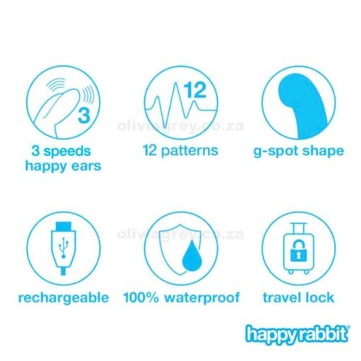 G-Spot Rechargeable Rabbit Vibrator Functions | Happy Rabbit