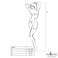 Jemma Bodystocking | Passion Lingerie BS010 Size