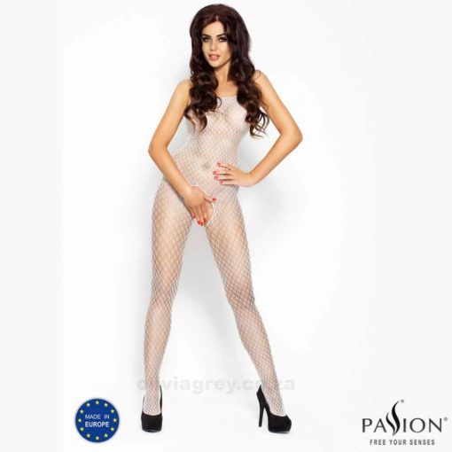 Jemma Bodystocking | Passion Lingerie BS010 White