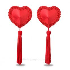 Red Heart Tassel Nipple Pasties