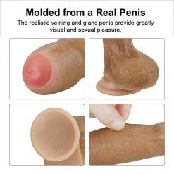 Dual-Layered Uncircumcised Dildo Info