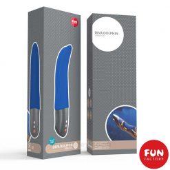 Diva Dolphin Silicone Vibrator Box Blue