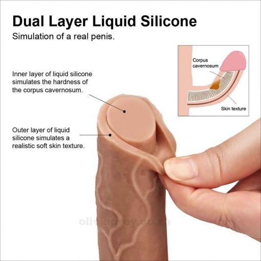 Dual-layered Liquid Silicone Dildo Diagram