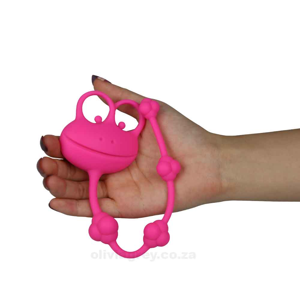 Silicone Frog Anal Beads hand